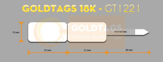 Tem nữ trang Goldtags 18K