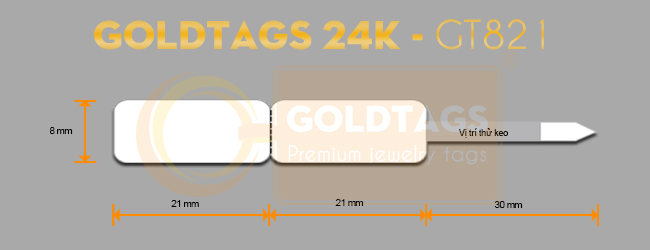 Tem Goldtags 24K - GT0821