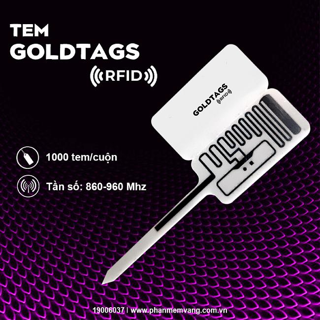 Tem nữ trang Goldtags RFID - Phần Mềm Vàng